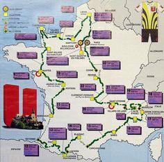 1986 Tour de France map
