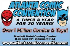 Today's the day! The Atlanta Comic Convention kicks off my LO, THERE SHALL COME A CON TOUR 2017! at 11 a.m. today. I hope to see you there. www.atlantacomicconvention.com