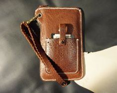 Téléphone de cuir cousu à la main étui / par ArtemisLeatherware