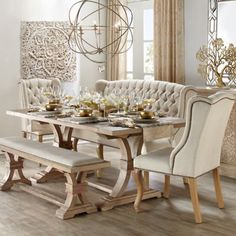 Natural Archer Dining Room Inspiration #FormalDiningRooms
