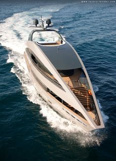 Superyacht, the Ocean Emerald. Designed by Lord Norman Foster and his team from Foster + Partners