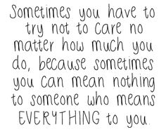 Isn't this the truth. Hard to realize and hurtful to know it's happening right in front of my face
