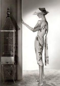 Dress by Irene Lentz-Gibbons - c. 1958 - @~ Mlle