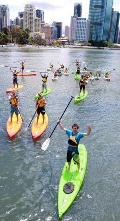 Stand Up Paddle Boarding on the Brisbane River with Riverlife- Learn to Stand Up Paddle Board with Riverlife