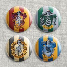Pacote 4 Botons - Harry Potter