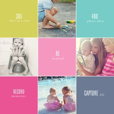 Printable photo checklists. 400 Photo Ideas: 50 Photos of Everyday Life, 50 Photos to Take with Your Kids, 50 Back to School Photo, 50 Travel Photos,  50 Summer Photos,50 Holiday Photos  50 Spring Photos, 50 Fall Photos.