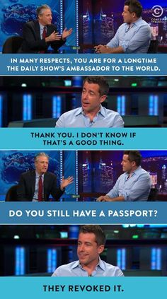 "Passport revoked (""The Daily Show With Jon Stewart"")"