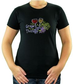 Grape Therapy Wine T Shirt is the perfect wine gift!  We ALL need a little Grape Therapy!