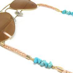 Sunny Cord Turquoise Eyeglass Holder, Leather Chain, Rope Chain, Eyeglasses, Sunnies, Turquoise Bracelet, Jewerly, Band, Fashion