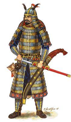 Kök Turk (Tujue) Warrior - Ashina Clan - 6th - 8th century AD - by Kaliolla Akhmetzhan - Gökturks
