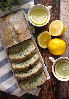 Lemon Poppyseed Yogurt Loaf with a Lemon Earl Grey Glaze