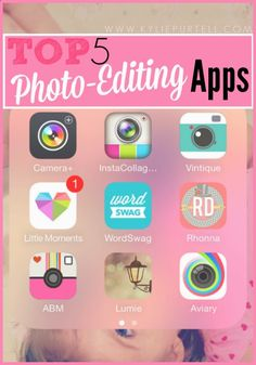 My Top 5 Best Photo Editing Apps // Photography | Kylie Purtell - A Study in Contradictionshttp://www.kyliepurtell.com/2014/09/best-photo-editing-apps.html