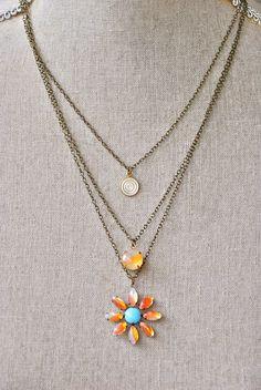 Clementine. boho,layered,charm necklace. Tiedupmemories