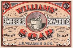 vintage soap label