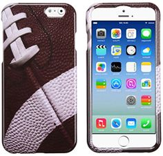 """myLife Walnut Brown + Vintage White {Classic Real American Football} 2 Piece Snap-On Rubberized Protective Faceplate Case for the NEW iPhone 6 (6G) 6th Generation Phone by Apple, 4.7"""" Screen Version """"All Ports Accessible"""" myLife Brand Products http://www.amazon.com/dp/B00U1S2QNA/ref=cm_sw_r_pi_dp_1Uxhvb0YY8H69"""