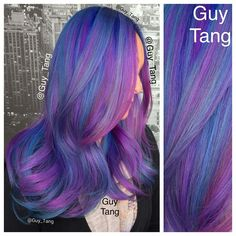 69 Super Ideas For Hair Balayage Violet Guy Tang Hair Color And Cut, Ombre Hair Color, Cool Hair Color, Purple Hair, Hair Colors, Guy Tang Hair, Blond, Balayage Ombré, Neon Hair
