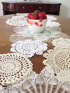 Vintage Doily Table