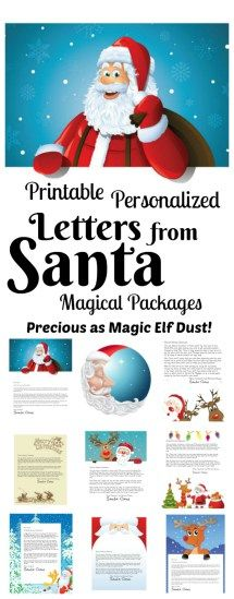 Letters from Santa: Our Magical Packages! Our focus is special printable letters from Santa, Nice List Certificates, autographed Santa photos and more (we have some free ones too). Free Printable Santa Letters, Free Letters From Santa, Personalized Letters From Santa, Diy Letters, Christmas Jokes, Christmas Crafts For Kids, Christmas Printables, Christmas Fun, Christmas Letters