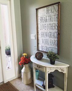 Daily reminder sign with frame etsy recibidor, organizadores, organizar, fu Cabana, Country Decor, Farmhouse Decor, Farmhouse Signs, Farmhouse Style, Rustic Decor, Home Decoracion, Shabby, Country Style Homes
