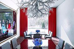 Dining Room. Aspen Home. AD November 2015. Architect: Stonefox Architects.