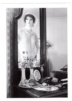 Blanche reflects on her appearance in a beautiful crochet blouse.