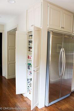 Spice Cabinet Against Side wall of Fridge.  Why have empty space?