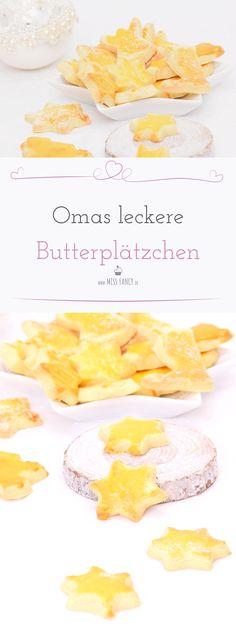 Butterplätzchen nach Oma´s Rezept, lecker und einfach zu backen.  Butter-Cookies for Christmas, german Recipe, easy to bake. #Weihnachtsplätzchen #Christmascookies #Butterplätzchen