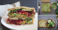 A la hora de preparar sándwiches también podemos lucirnos en la cocina. Para lograr un grandioso sándwich tenemos que tener en cuenta sabor, crocantez y la combinación perfecta de ingredientes. Esta receta con base de vegetales es un perfecto ejemplo de todo eso.      Para un sándwich:  - 2 rebanadas de pan de grano entero sembraron. - 1/4 aguacate en rebanadas delgadas. - 1/2 cucharaditas de semillas de sésamo tostadas. - 2 o 3 cucharadas de hummus. - 5 ramitas de perejil. - 2 rábanos en…
