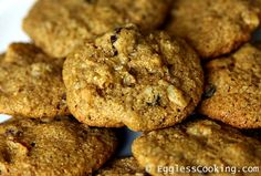 These vegan hermit cookies are soft and chewy, spiced with cinnamon and allspice, loaded with raisins and nuts is sure to please both children and adults alike.