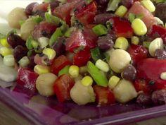 Black Bean Chickpea Salad Video : Food Network - FoodNetwork.com