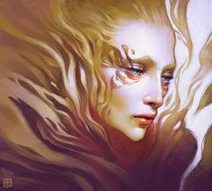 Anna Dittmann is a 20 year-old illustrator who grew up in San Francisco and moved to Georgia to study at the Savannah College of Art and Design. Anna Dittmann, Dragons, L'art Du Portrait, Portraits, Portrait Paintings, Canvas Paintings, Fractal Art, Female Art, Amazing Art