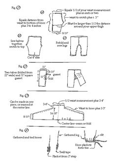 Braies and Trousers pattern