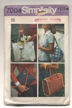 Bag Patterns To Sew, Sewing Patterns, Country Shirts, Shirts For Teens, Simplicity Patterns, Sewing Stores, Bags Sewing, Sewing Crafts, Reusable Tote Bags