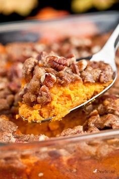 This sweet potato casserole is a major highlights of every holiday meal. Everyone loves the crisp brown sugar crumble on top. Side dish or dessert?