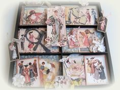 """Here is another view of Dawn Rene's tray she created using the Graphic 45 """"Ladies Diary"""" collection."""