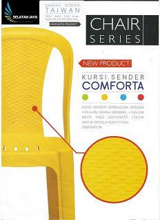 Selatan Jaya distributor barang plastik furnitur Surabaya Indonesia: Kursi plastik sender tipe comforta merk Taiwan