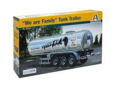 1/24 We Are Family Tank Trailer Model Kit