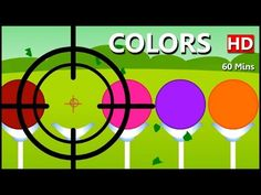 Learn Colors with Shooting Game, Teach Colours, Baby Children Kids Learning Videos by Baby Rhymes - YouTube