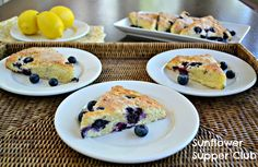 Sunflower Supper Club: Blueberry and Lemon Scones