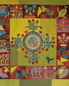 Sue Spargo's Patterned Quilts and Creations - Martha Stewart Community AMAZING QUILT