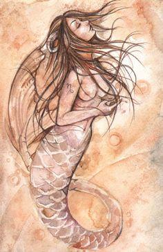 Capricorn Mermaid by mortimersparrow.deviantart.com on @deviantART