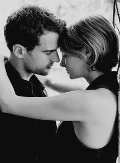"""""""I was so afraid that we would just keep colliding over and over again if we stayed together, and that eventually the impact would break me. But now I know I am like the blade and he is like the wetstone - I am too strong to break so easily, and I become better, sharper, every time I touch him.""""_ Tris Prior"""