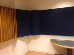 Sala di ripresa. Dettaglio del trattamento acustico
