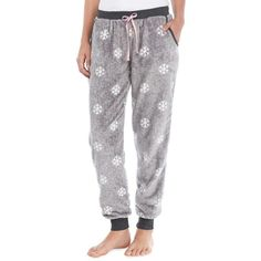 Sleep Riot™  Plush Jogger With Pockets ($12) ❤ liked on Polyvore featuring activewear, activewear pants, plus size, women's plus size activewear, plus size sportswear and plus size activewear