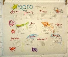 'Sea Life Calendar' by Spoonflower Fabrics, via Flickr