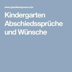 Kindergarten Abschiedssprüche und Wünsche