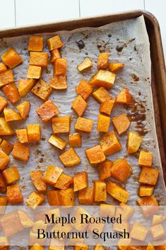 The syrup helps to caramelize the squash, thus turning this maple roasted butternut squash into the best thing that ever happened to the best salad ever.