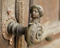 "ganymedesrocks: "" theantiquegeek: "" Vintage door handle (door Danil Roudenko) "" Dreaming about that instant, motioning a door, where you will enter into another realm of what you came to discover or achieve is one reward; having a door handle, for..."