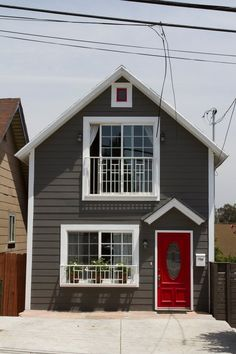 Chris U0026 Damianu0027s Updated 1898 Echo Park Home. Houses With Red DoorsRed ...