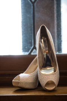 Crystal-Embellished Peep Toes | Photography: Mandy Paige Photography. Read More: http://www.insideweddings.com/weddings/vintage-inspired-wedding-shoot-with-blush-gold-color-palette/703/